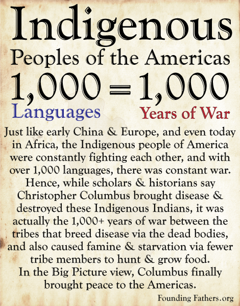 Indigenous People of America - 1,000 Languages = 1,000 Years of War