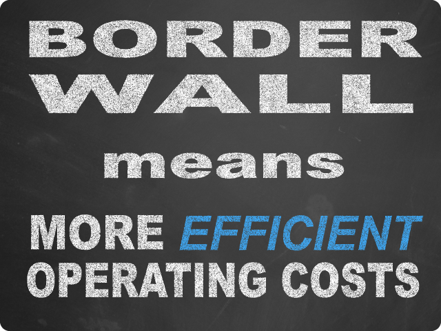 Border Wall means More Efficient Operating Costs