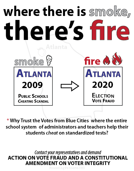 Where there is smoke, there's fire. - Why Trust the Votes from Blue Cities where the entire school system  of administrators and teachers help their students cheat on standardized tests?