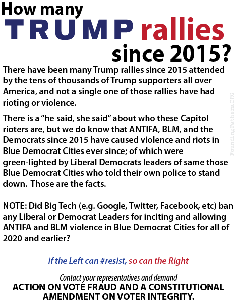 How many Trump rallies since 2015?