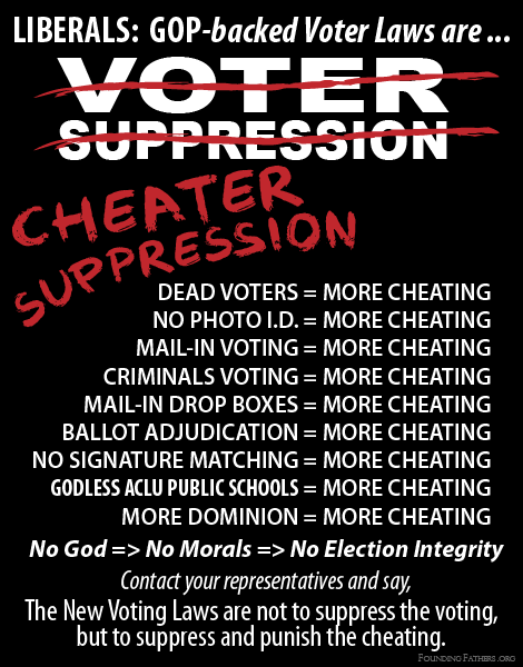 Voter Suppression? Or Cheater Suppression?