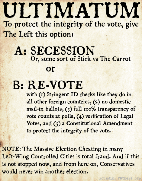 Ultimatum: A: Secession or B: Re-Vote