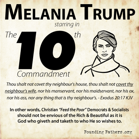 Melania Trump starring in The 10th Commandment